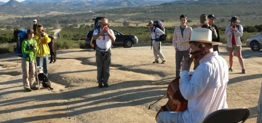 hiking cellist