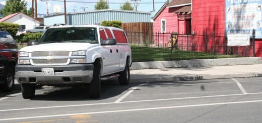 back-in parking