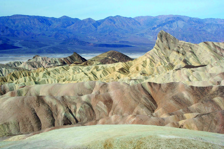 Manly Beacon as photographed from Zabriskie Point. Photo by Katie Vane.