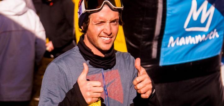 Greg Bretz, halfpipe finals, grand prix, mammoth mountain ski area