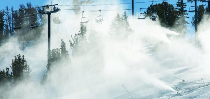 Mammoth Mountain, snow blowing, Grand Prix
