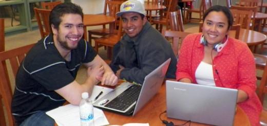 Bishop Cerro Coso students Josue Muro, Gerardo Castillo, and Laura Hutapea.