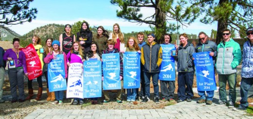 The Mammoth High School ski and snowboard teams.