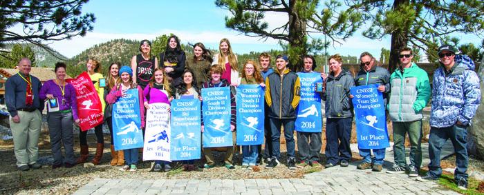 The Mammoth High School ski and snowboard teams.