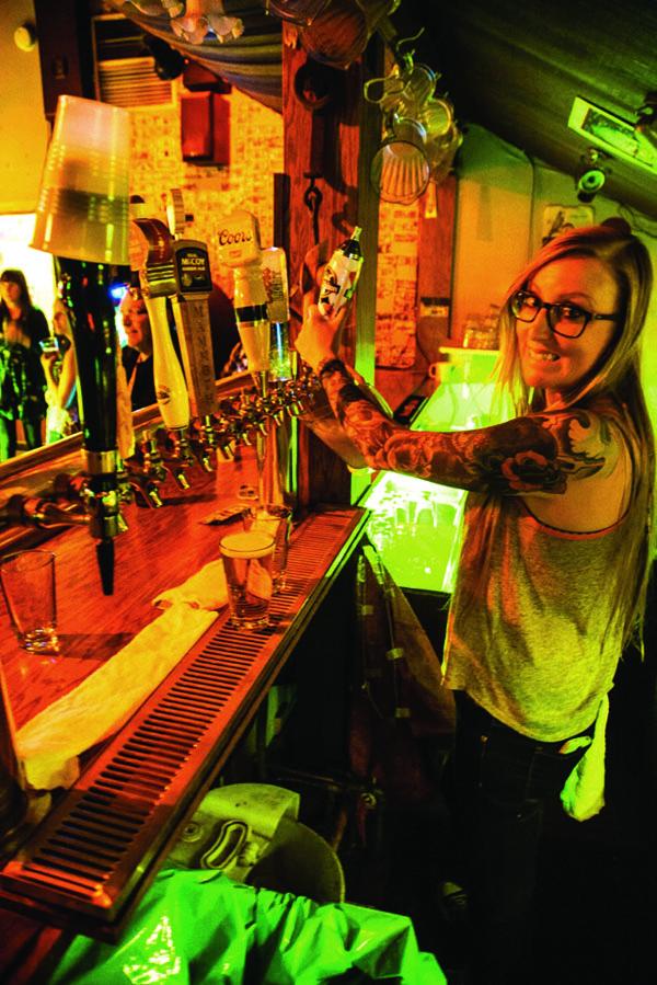 Bartender Riley Becker.
