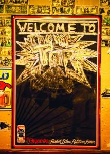 The welcoming chalkboard.