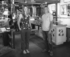 Kristin Broumas and Michael Lish, co-owners of Community Skis at their Berner Street shop. Photo courtesy: Sheet staff