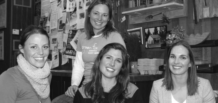 Clockwise from left: Andrea Walker, Sandra DiDomizio, Jen Daugherty, Camille Miller. Photo courtesy: Sheet staff.