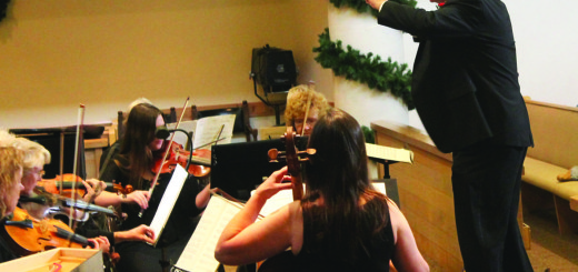 Eastern Sierra Chamber Ensemble Director Mark Hatter at last Saturday's holiday concert at St. Jospeh's Church. Photos courtesy: Sheet staff.