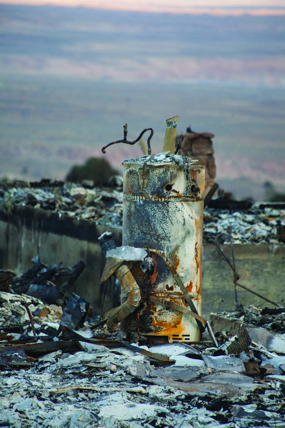 A burned out water heater.