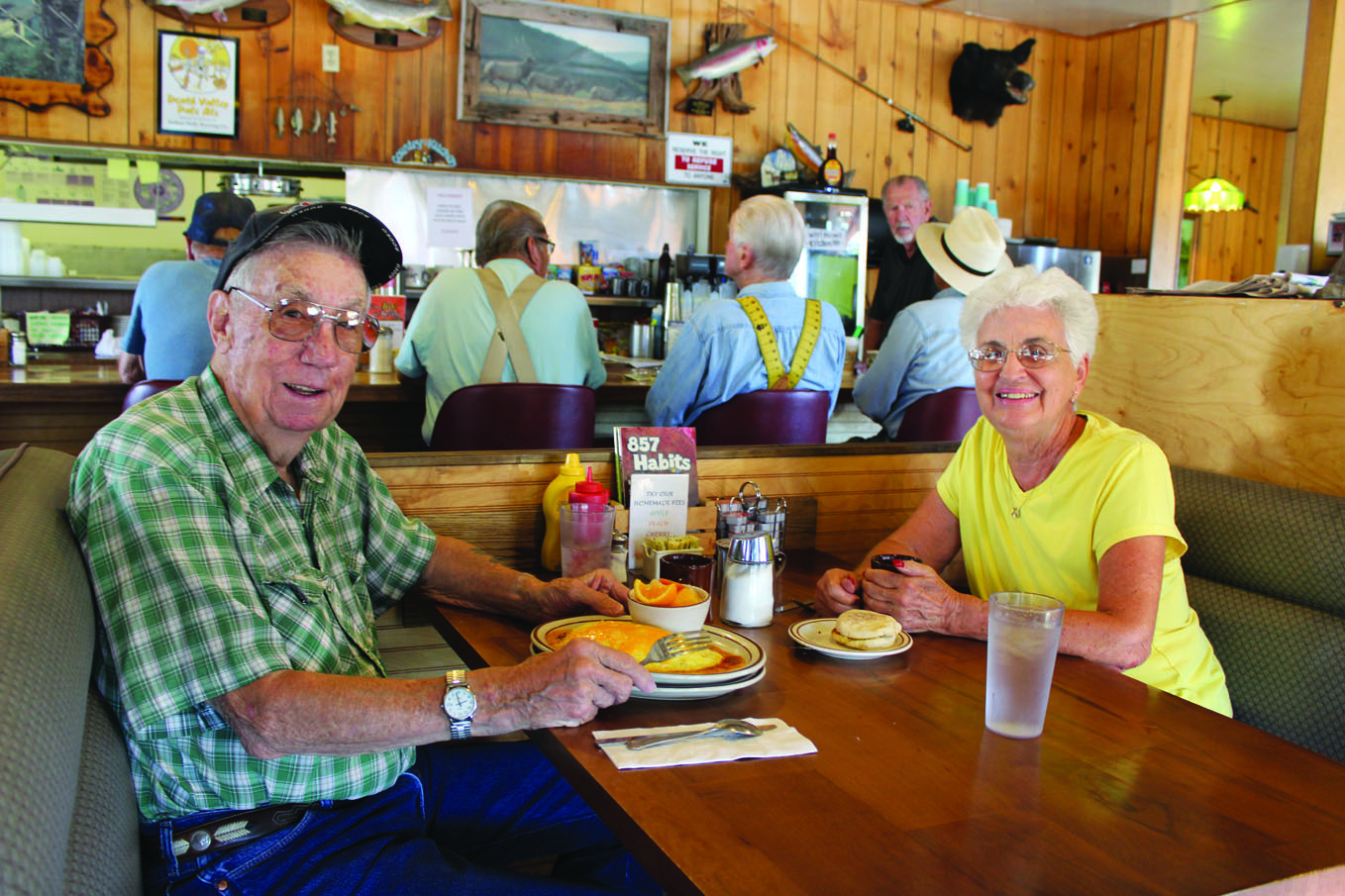 Joe and Virgina MacLeod, residents of Big Pine for over 40 years, enjoy having breakfast regularly at the Country Kitchen. Joe has been coming to the area since 1935 edit web