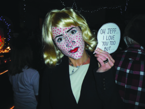 Rose Masters went as a classic Roy Lichtenstein character.