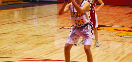 Mammoth Huskies girls basketball player Morgan Sanders at the Dec. 2 home opener against Lee Vining.
