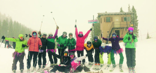 Ladies braved near blizzard conditions on Sunday, Dec.13 ... and had a blast. Photo courtesy: Rea.