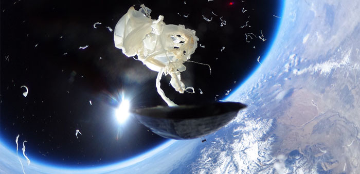 An exploding space balloon. Photo courtesy: Phillips.